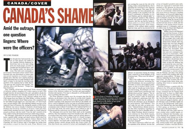 Article Preview: CANADA'S SHAME, January 1995 | Maclean's
