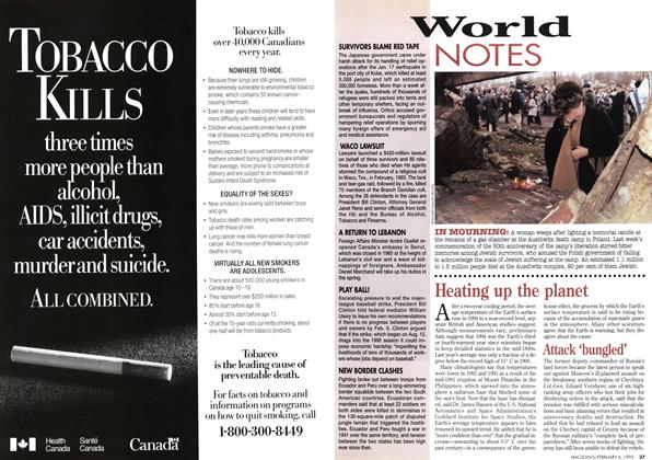 Article Preview: World NOTES, February 1995 | Maclean's