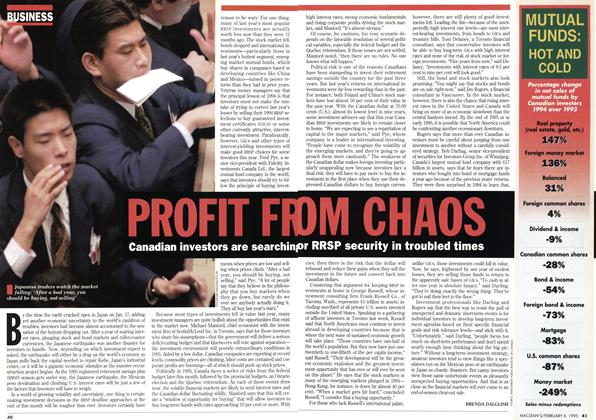 Article Preview: PROFIT FROM CHAOS, February 1995 | Maclean's