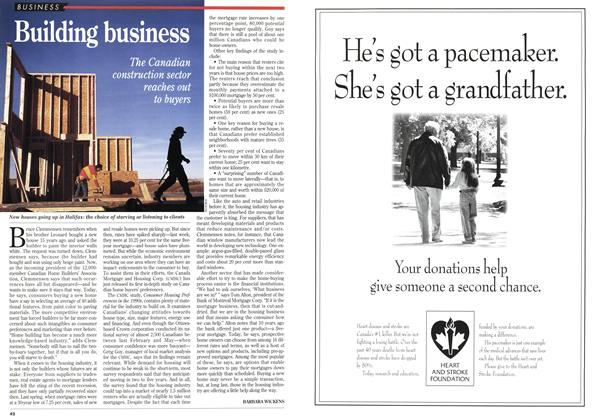 Article Preview: Building business, February 1995 | Maclean's