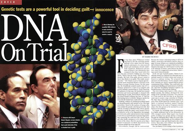 Article Preview: DNA On Trial, February 1995 | Maclean's