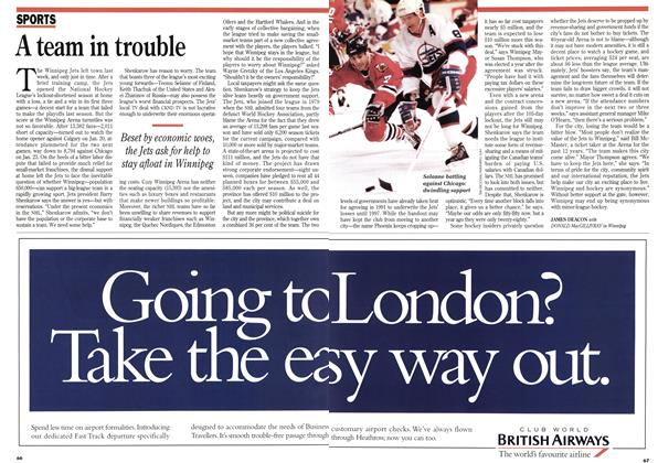 Article Preview: A team in trouble, February 1995 | Maclean's