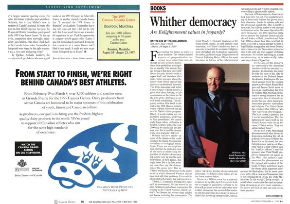 Article Preview: Whither democracy, February 1995 | Maclean's