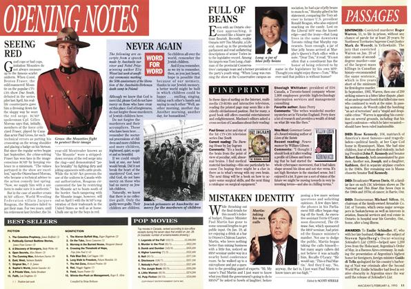 Article Preview: OPENING NOTES, February 1995 | Maclean's