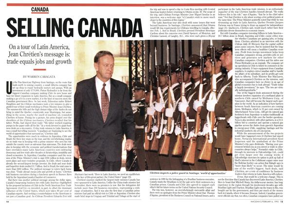 Article Preview: SELLING CANADA, February 1995 | Maclean's