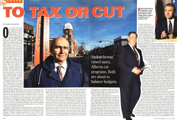 Article Preview: TO TAX OR CUT, February 1995 | Maclean's