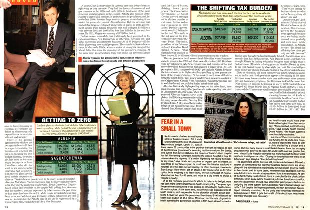 Article Preview: FEAR IN A SMALL TOWN, February 1995 | Maclean's