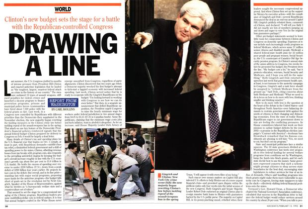 Article Preview: DRAWING A LINE, February 1995 | Maclean's