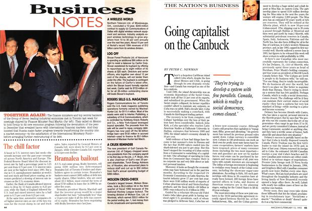Article Preview: Going capitalist on the Canbuck, February 1995 | Maclean's