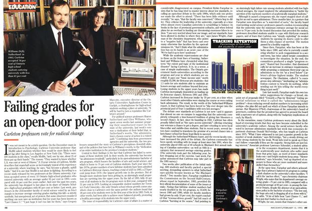 Article Preview: Failing grades for an open-door policy, February 1995 | Maclean's