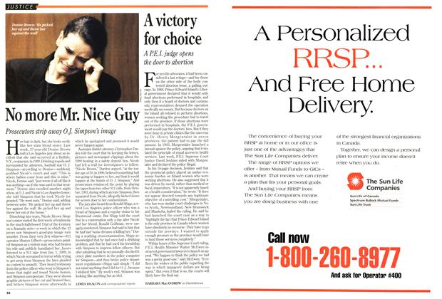 Article Preview: No more Mr. Nice Guy, February 1995 | Maclean's