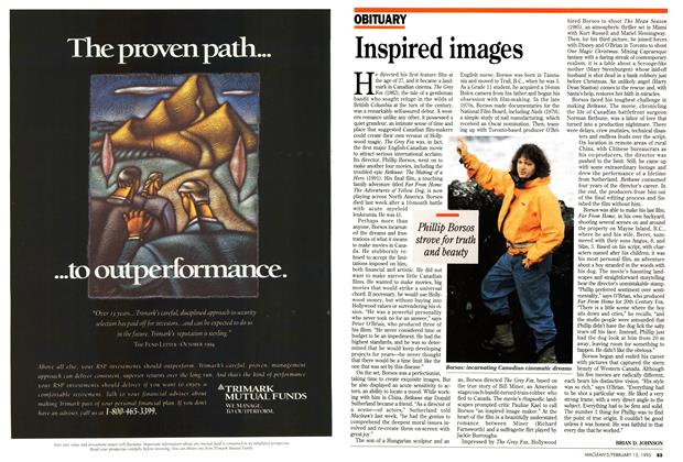 Article Preview: Inspired images, February 1995 | Maclean's