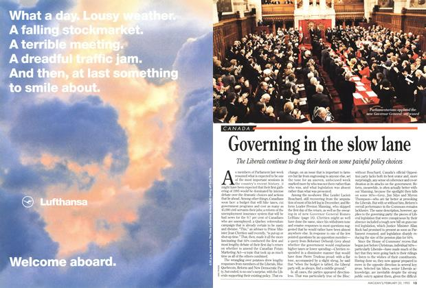 Article Preview: Governing in the slow lane, February 1995 | Maclean's
