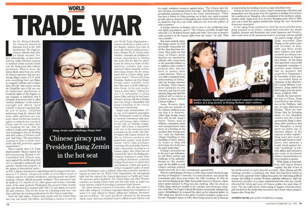 Article Preview: TRADE WAR, February 1995 | Maclean's