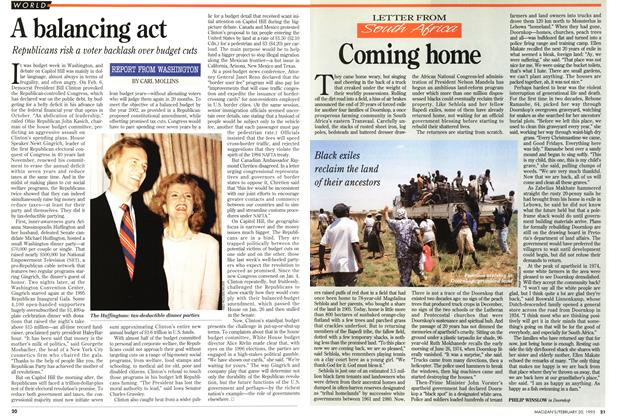 Article Preview: Coming home, February 1995 | Maclean's