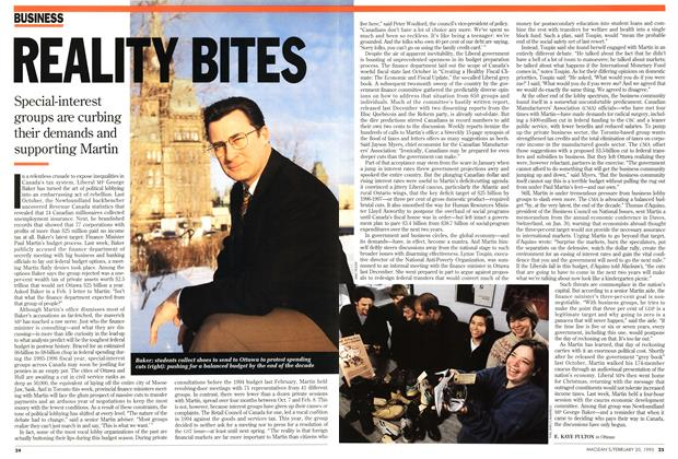 Article Preview: REALITY BITES, February 1995 | Maclean's