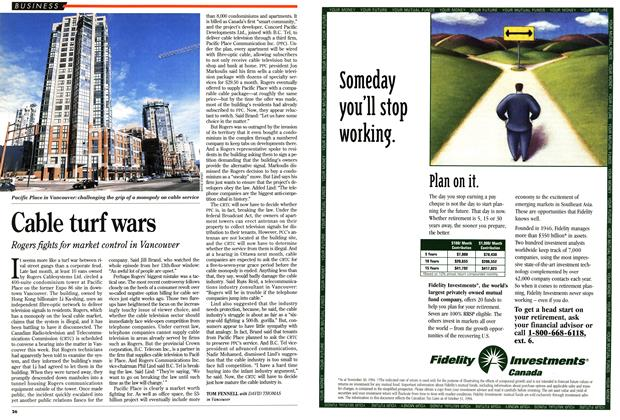 Article Preview: Cable turf wars, February 1995 | Maclean's