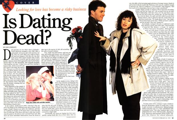 Article Preview: Is Dating Dead?, February 1995 | Maclean's