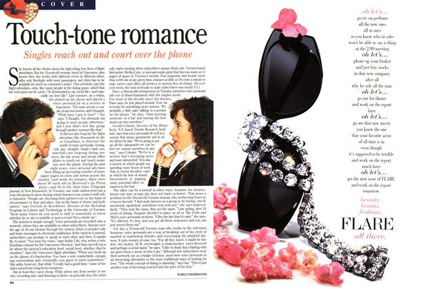 Article Preview: Touch-tone romance, February 1995 | Maclean's
