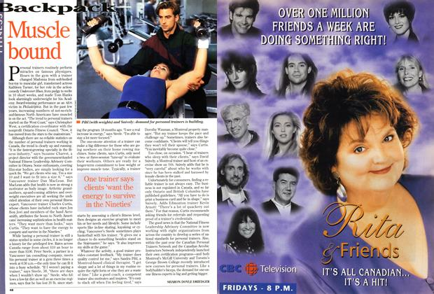 Article Preview: Muscle bound, February 1995 | Maclean's