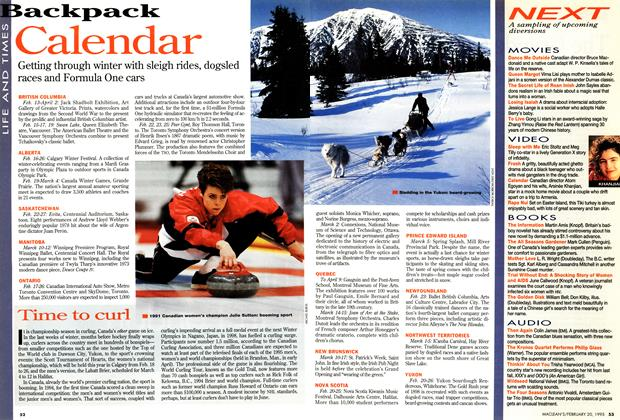 Article Preview: Calendar, February 1995 | Maclean's