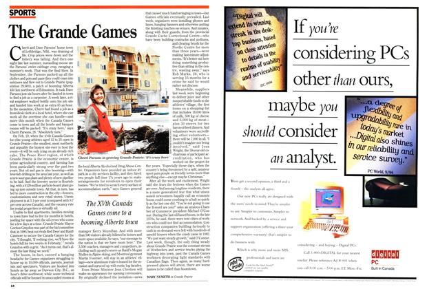 Article Preview: The Grande Games, February 1995 | Maclean's