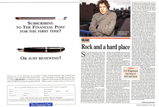 Article Preview: Rock and a hard place, February 1995 | Maclean's