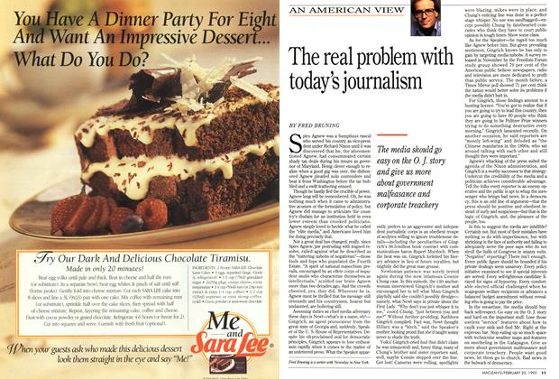 Article Preview: The real problem with today's journalism, February 1995   Maclean's