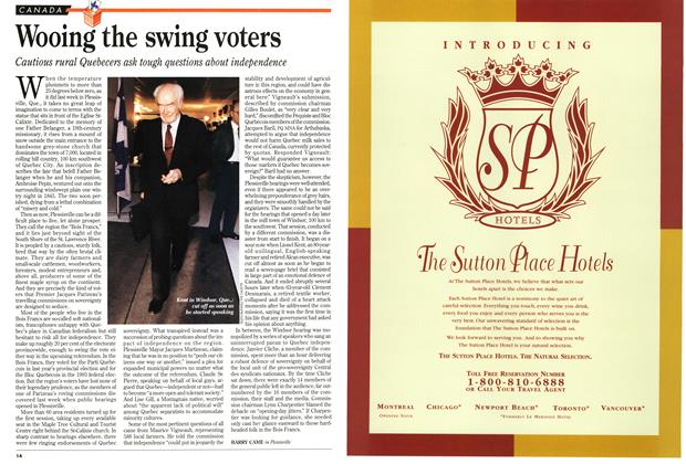 Article Preview: Wooing the swing voters, February 1995 | Maclean's