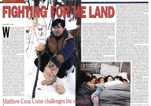 Article Preview: FIGHTING FOR THE LAND, February 1995 | Maclean's