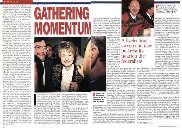 Article Preview: GATHERING MOMENTUM, February 1995 | Maclean's