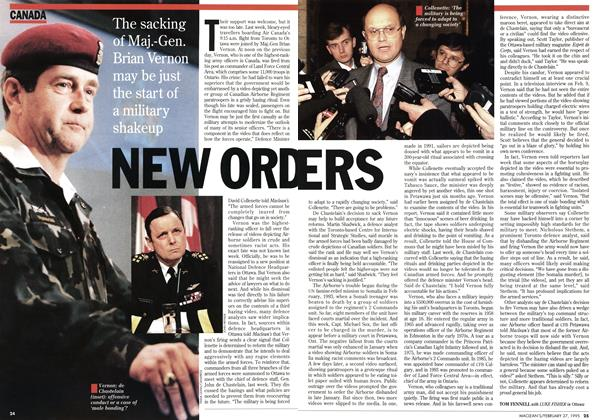 Article Preview: NEW ORDERS, February 1995 | Maclean's