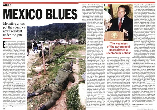 Article Preview: MEXICO BLUES, February 1995 | Maclean's