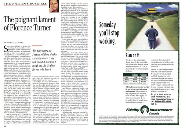 Article Preview: The poignant lament of Florence Turner, February 1995 | Maclean's