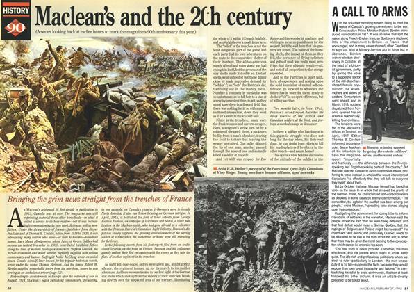 Article Preview: Maclean's and the 2Oth century, February 1995 | Maclean's