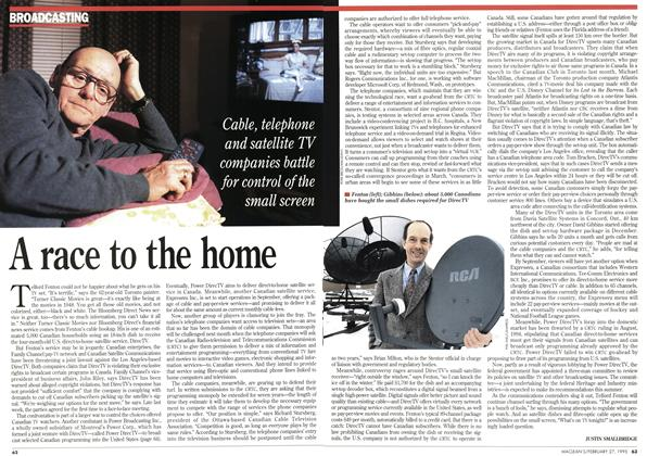 Article Preview: A race to the home, February 1995 | Maclean's