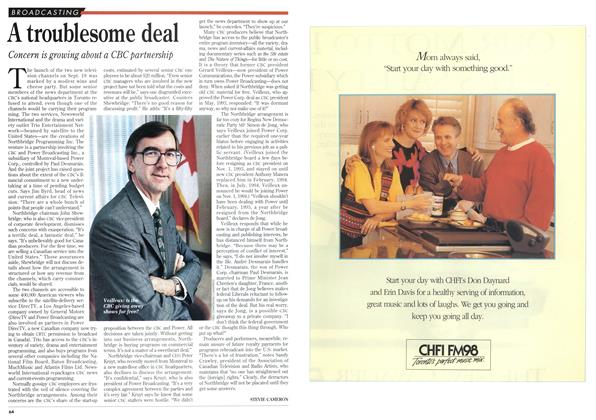 Article Preview: A troublesome deal, February 1995 | Maclean's
