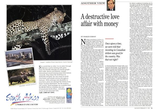 Article Preview: A destructive love affair with money, February 1995 | Maclean's