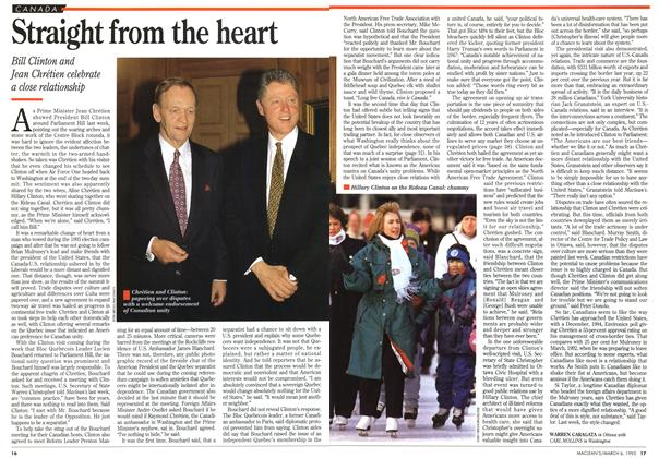 Article Preview: Straight from the heart, March 1995 | Maclean's