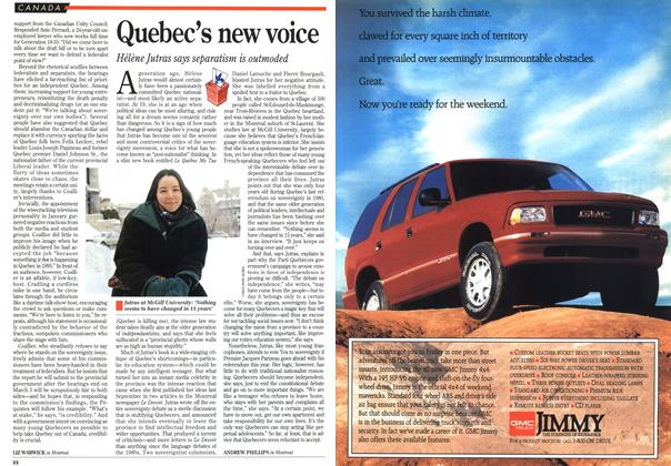 Article Preview: Quebec's new voice, March 1995 | Maclean's