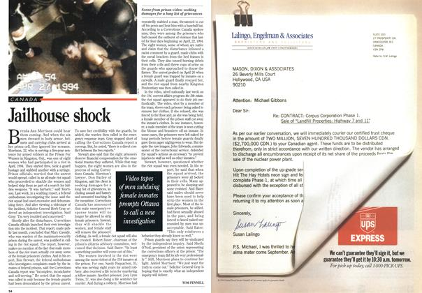 Article Preview: Jailhouse shock, March 1995 | Maclean's
