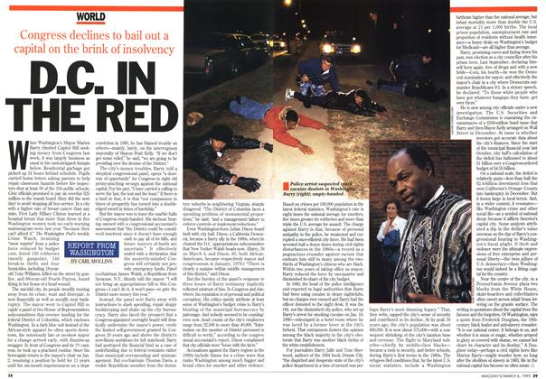 Article Preview: D.C. IN THE RED, March 1995 | Maclean's