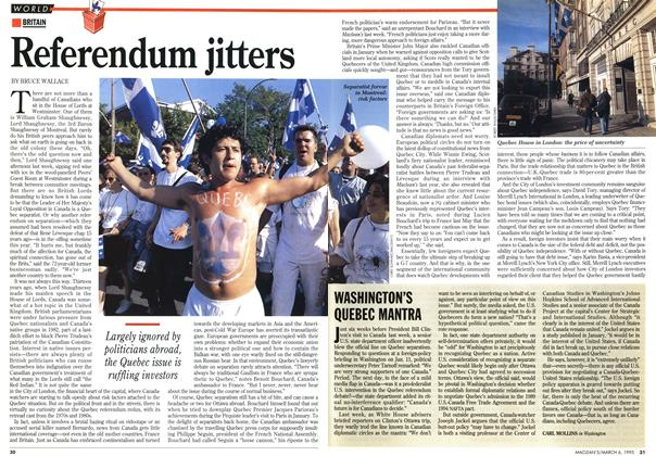 Article Preview: Referendum jitters, March 1995 | Maclean's