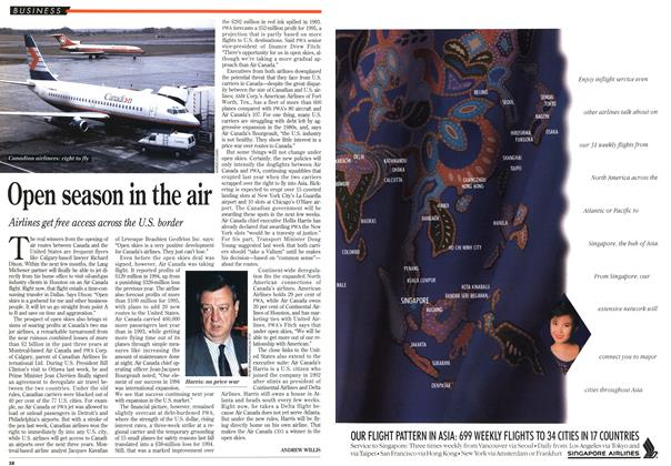 Article Preview: Open season in the air, March 1995 | Maclean's
