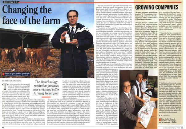 Article Preview: Changing the face of the farm, March 1995 | Maclean's