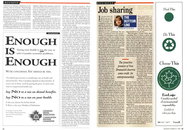 Article Preview: Job sharing, March 1995 | Maclean's