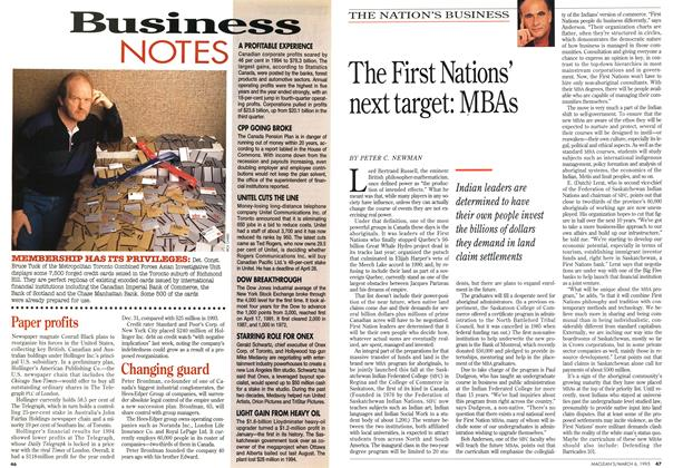 Article Preview: The First Nations' next target: MBAs, March 1995 | Maclean's
