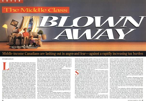 Article Preview: BLOWN AWAY, March 1995 | Maclean's