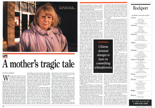 Article Preview: A mother's tragic tale, March 1995 | Maclean's