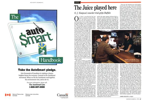 Article Preview: The Juice played here, March 1995 | Maclean's
